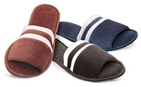 Mens Velour 2-Tone Scuff Slippers #202